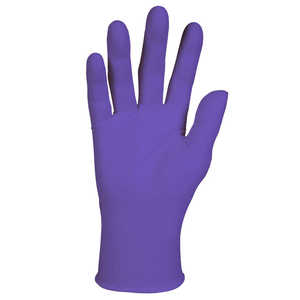 Kimberly Clark Purple Nitrile PF Gloves, Medium, 100/bx