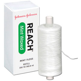 Reach Dental Floss Mint Waxed Floss, 200yd.